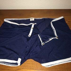 Blue Mesh rip open front boxer briefs
